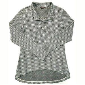 Merrell Womens Tunic High Low Long Sleeve Snap